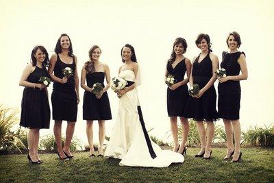 Black on Bridesmaids -
