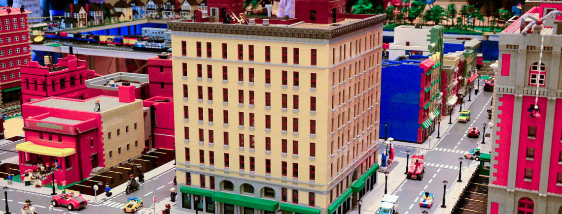 Lego build your way around town